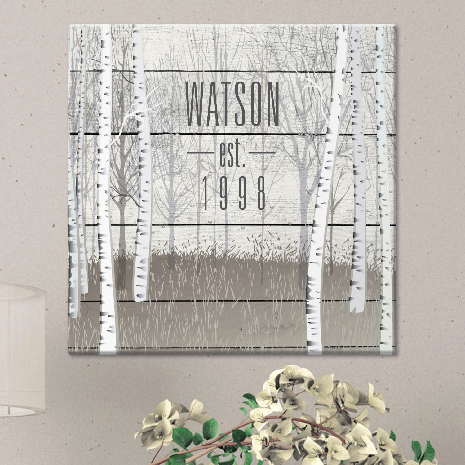Personalized Tranquil Woods Canvas - Available in 2 Sizes
