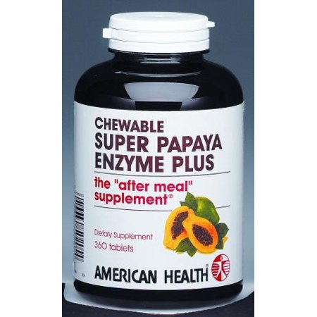 American Health Papaya Enzyme Tablets, 360 Ct, 120 Servings American Health 90 Tablets