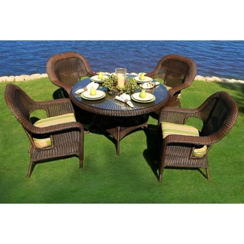 Tortuga Lexington 5 Piece Patio Dining Set-Tortoise Monserrat Sangria