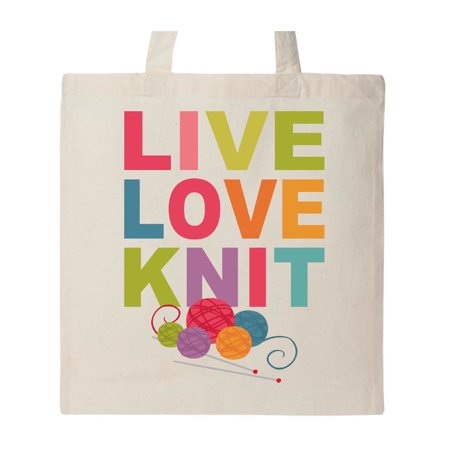 Live Love Knit Tote Bag ()