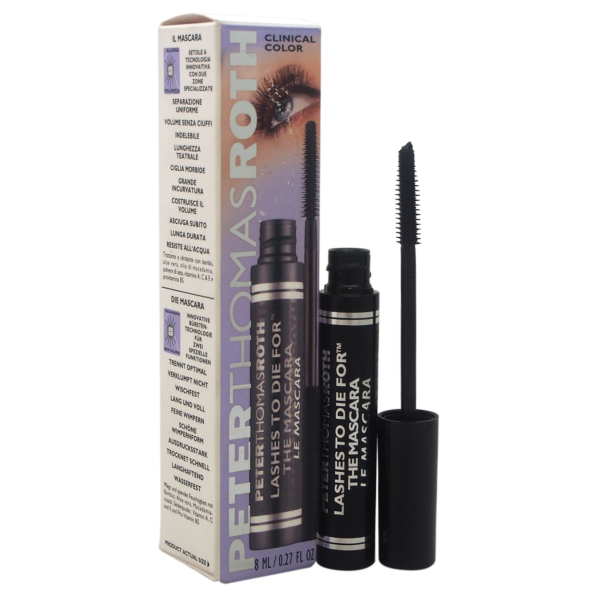 Peter Thomas Roth Lashes To Die For The Mascara, Jet Black, 0.27 Oz