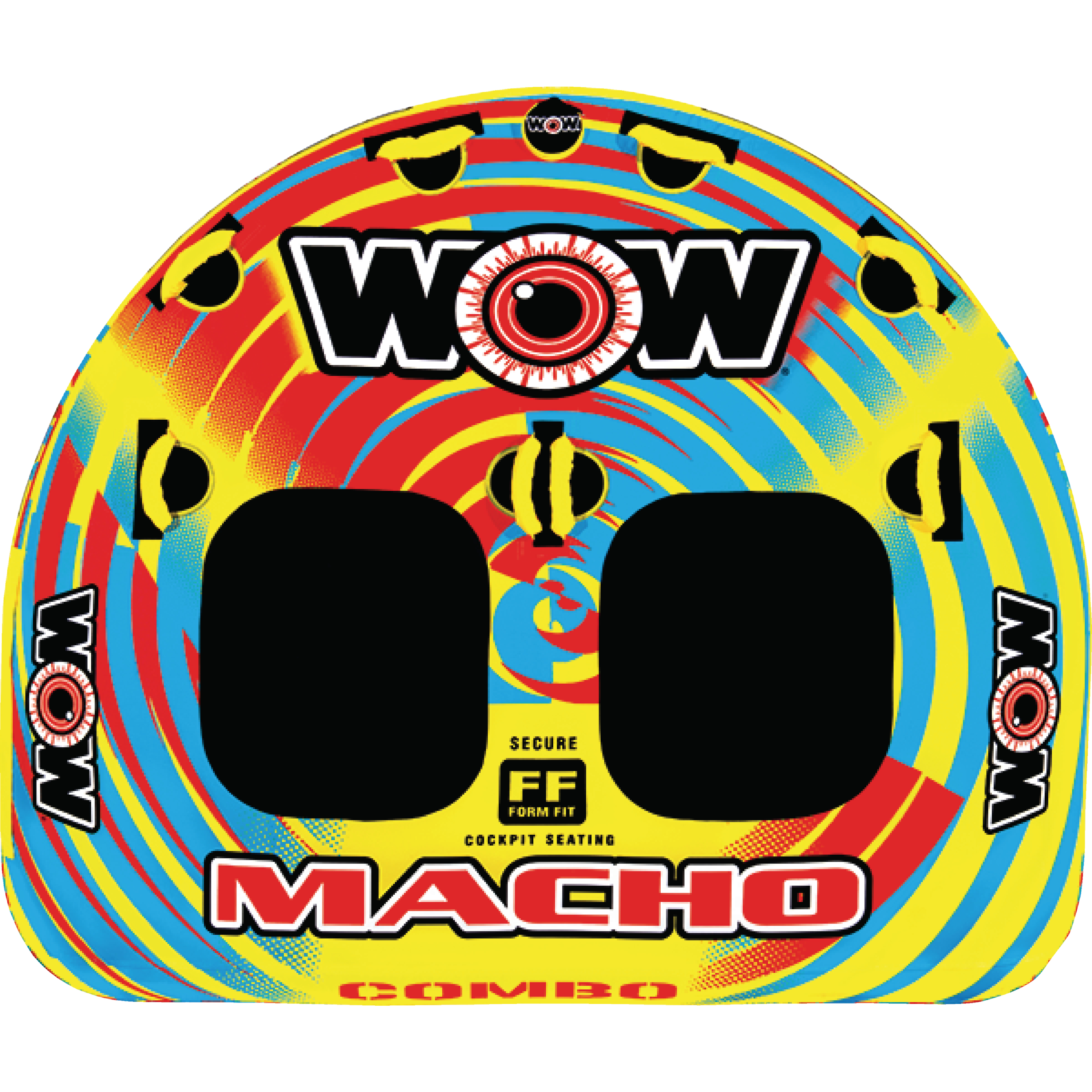 WOW 16-1010 Macho 1-2 Rider Inflatable Towable