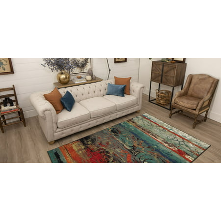 Eroded Color Multi Printed Area Rug