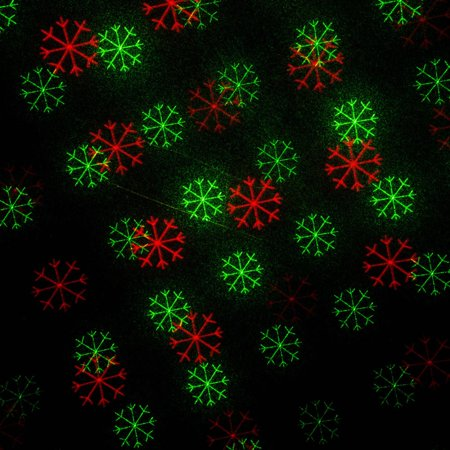 Red And Green Winter Snowflake Outdoor Christmas Laser Light Projector