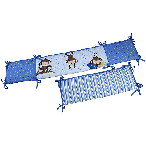 Little Bedding by NoJo 3 Little Monkeys Crib Bumper