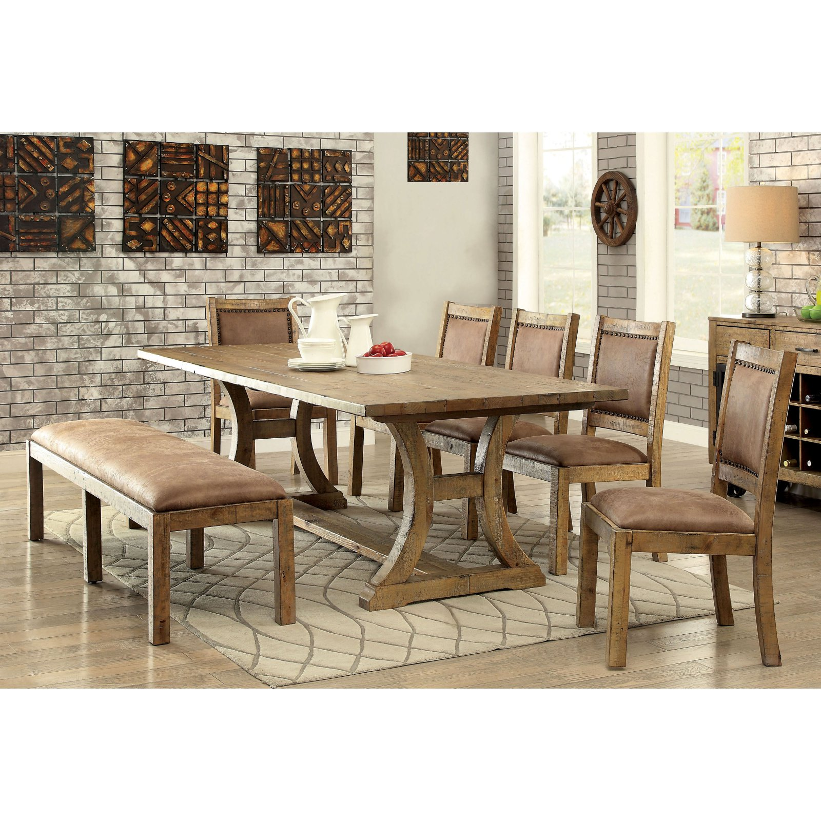Furniture of America Camen 7-Piece Dining Set