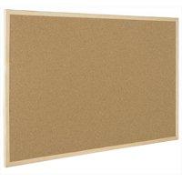 MasterVision Maya Super Value Cork Bulletin Board 1.5'X2'-Natural Oak Finished Frame