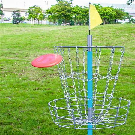 Yaheetech Portable Disc Golf Basket - Lightweight Double ...