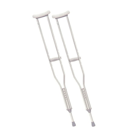 Drive Medical Walking Crutches with Underarm Pad and Handgrip, Tall Adult, 1 Pair Underarm Crutch Pad