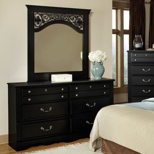 Standard Furniture Madera with Marble Top 6 Drawer Dresser