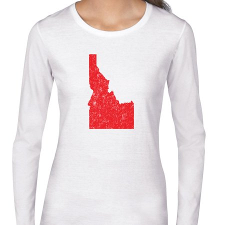 Idaho Red Republican   Election Silhouette Womens Long Sleeve T Shirt