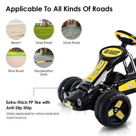 Go Kart Kids Ride On Car Pedal Powered Car 4 Wheel Racer Toy Stealth Outdoor - image 1 of 8