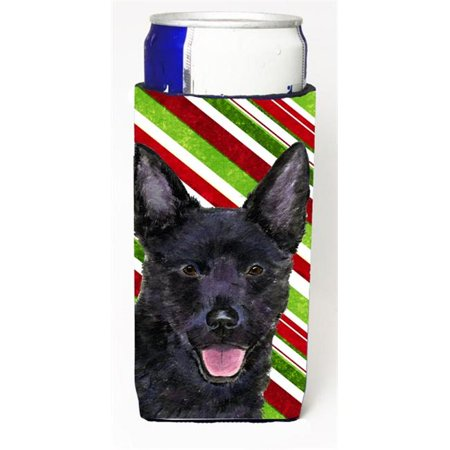Australian Kelpie Candy Cane Holiday Christmas Michelob Ultra s For Slim Cans - 12 oz. - Candy For Sale