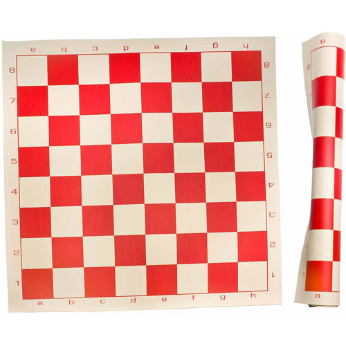 Sterling Games Roll Up Chess Mat, Red
