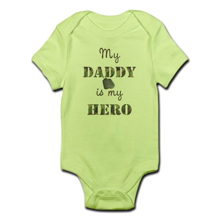 51b9d3aa CafePress - CafePress - My Daddy Is My Hero Infant Bodysuit - Baby Light  Bodysuit - Walmart.com