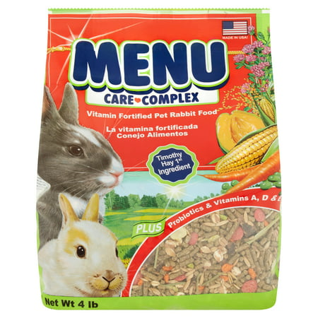 - Vitakraft Menu Care Complex Vitamin Fortified Pet Rabbit Food, 4 lbs.