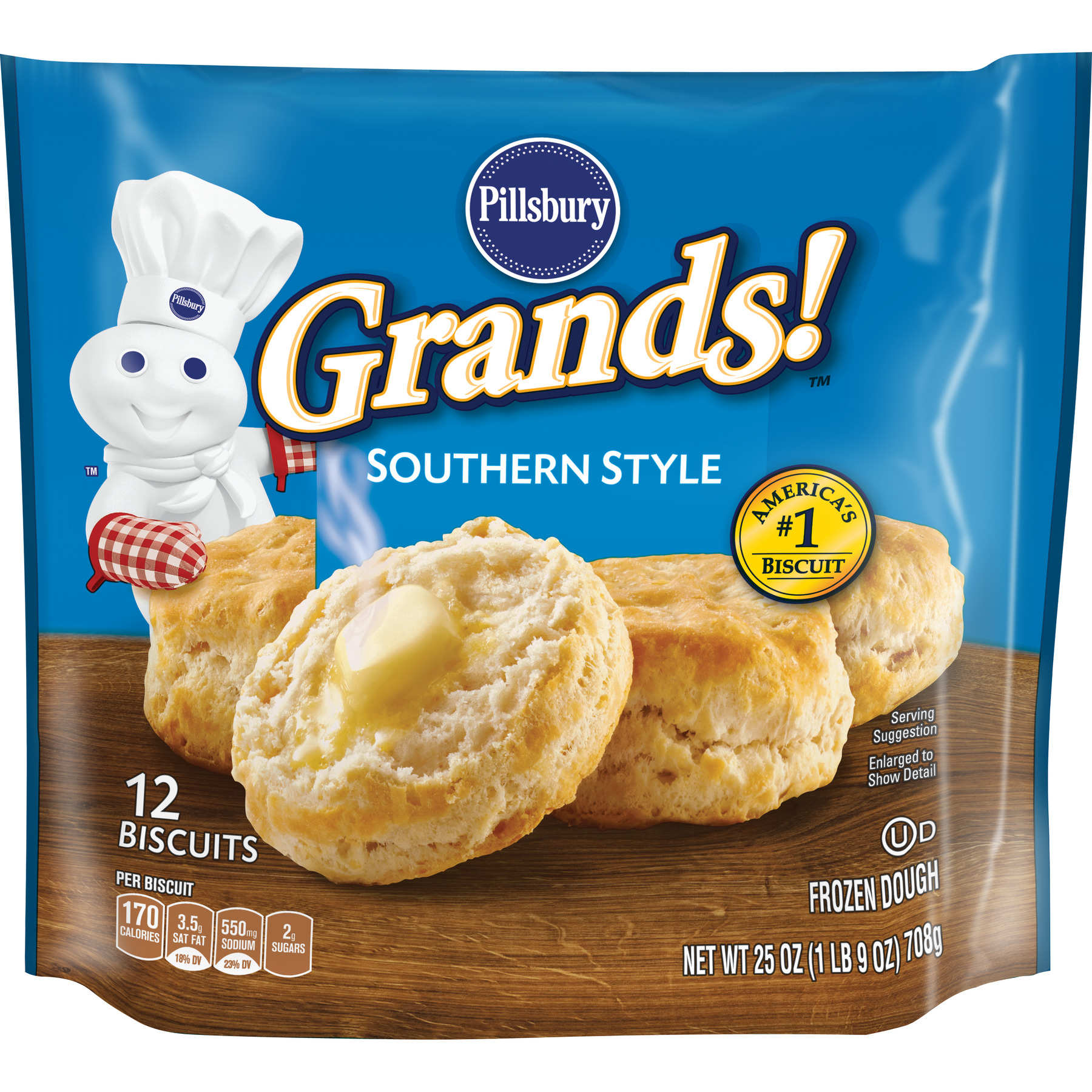 Pillsbury Grands! Southern Style Biscuits, 12 Ct, 25 oz