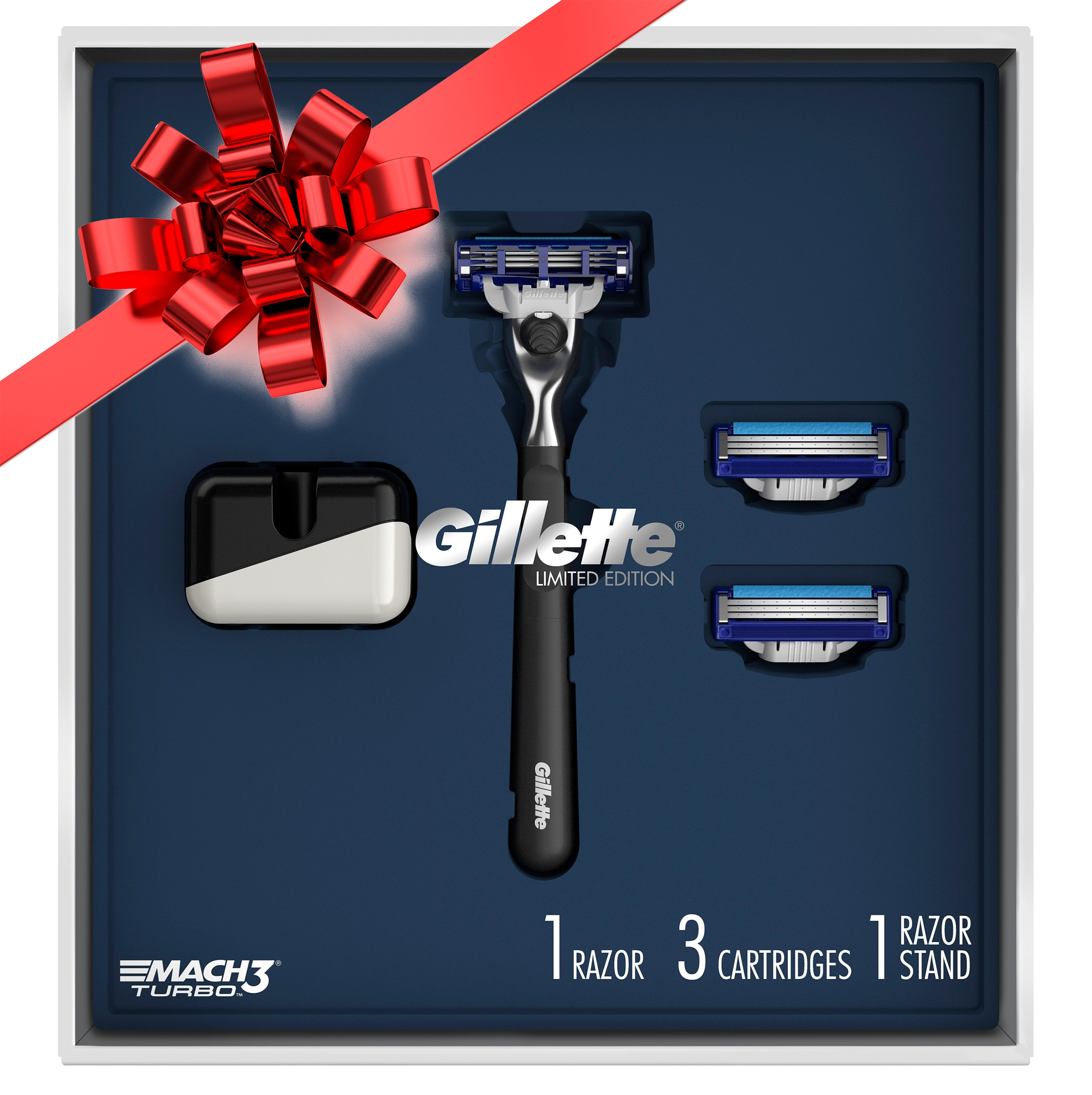 Gillette® Limited Edition Mach3 Turbo Razor Gift Pack