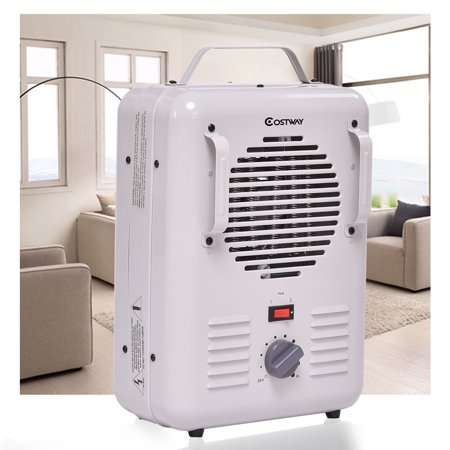 Costway Electric Portable Utility Space Heater Thermostat Room 1500W Air Heating (Best Portable Electric Heater For Large Room)