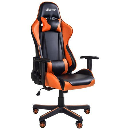 JUMPER Gaming Chair Ergonomic Racing Style Recliner with Massage Lumbar Support, Office Armchair for Computer PU Leather E-Sports Gamer (Best Recliner With Lumbar Support)