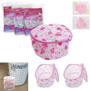 AllTopBargains 2 Washing Bra Bag Laundry Underwear Lingerie Saver Mesh Wash Basket Aid Net New