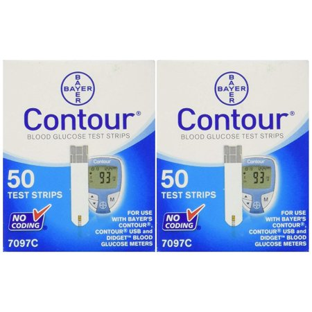 Bayer  Blood Glucose, 100 Test Strips Exp Year or Longer Contour