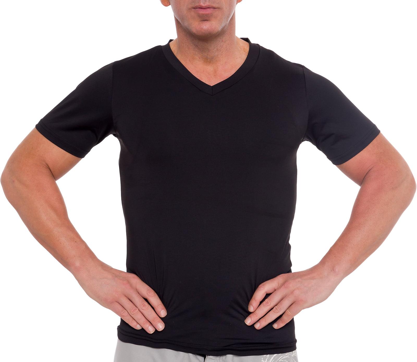 Legou Mens Solid V-Neck Slim Plus Elasticity Underwear Tops