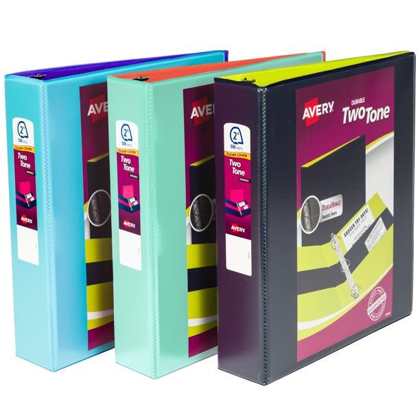 """Avery Two-Tone Durable View Binder, 2"""" Slant Rings, 500"""