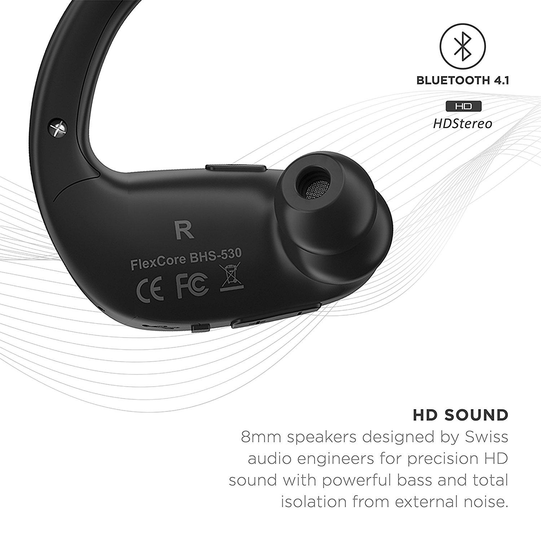 Phaiser BHS-530 Wireless Bluetooth Headset, Sport Headphones/Earbuds ...
