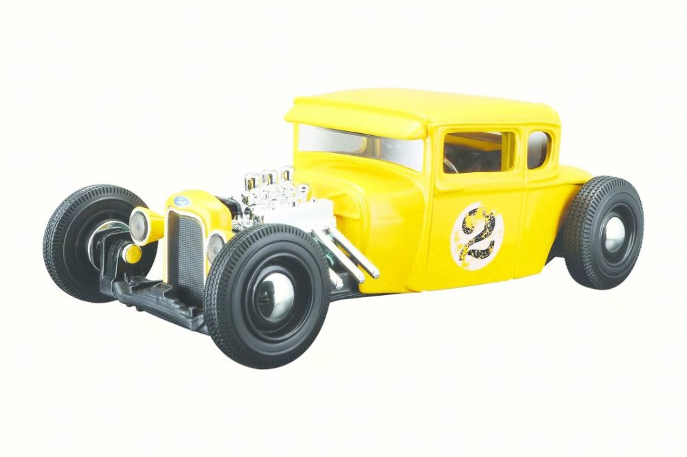 1929 Ford Model A #2, Yellow Maisto 31354YL 1 24 Scale Diecast Model Toy Car by Maisto