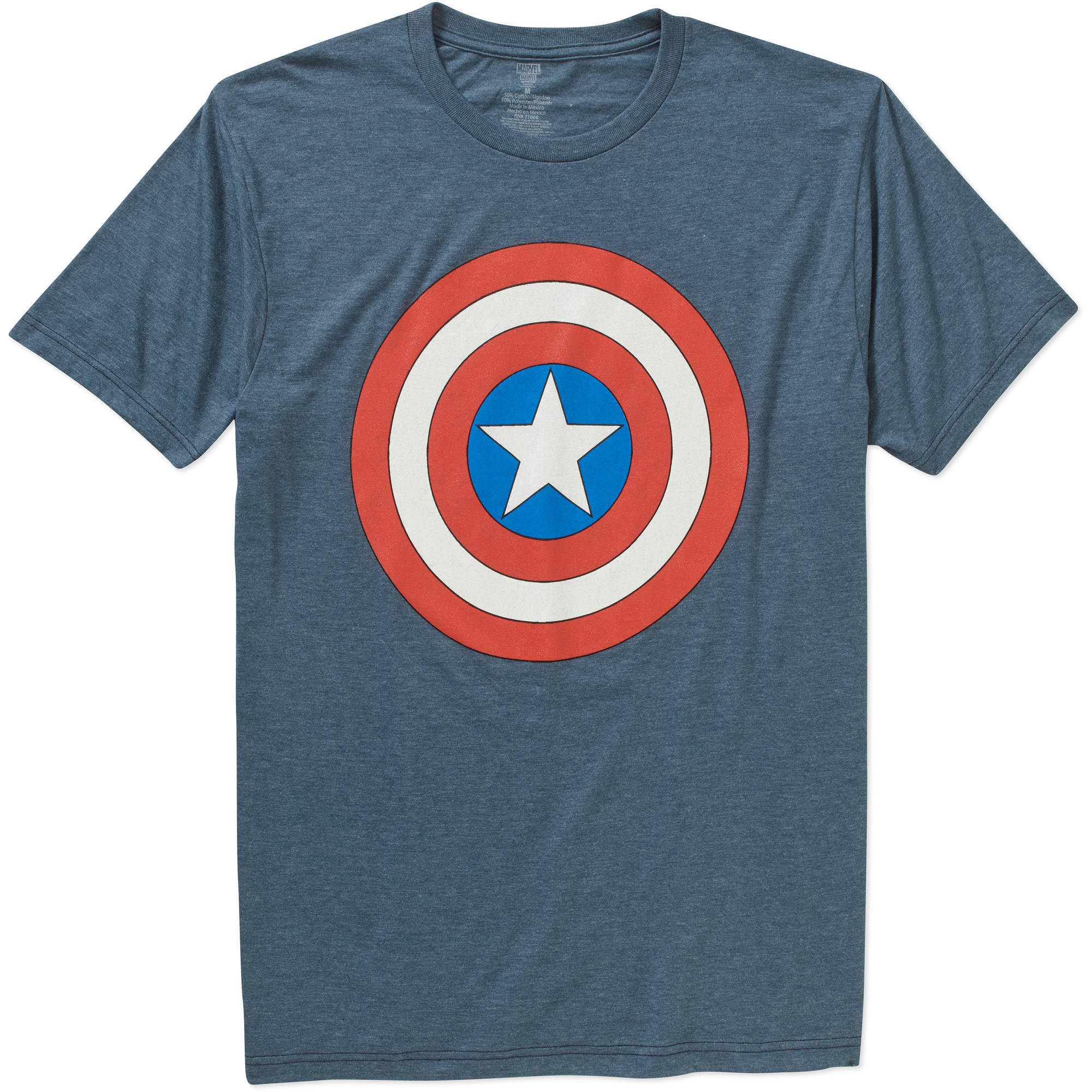 Marvel Men's Captain America Shield Short Sleeve Graphic Tee