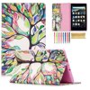 "All-New Fire HD 8 2017 Tablet Case, Goodest Flip Folio PU Leather Folding Stand Cover [Card Holder] Case for All-New Amazon Fire HD 8 Tablet (7th Generation, 2017 Release Only), Lucky Tree Compatibility:Designed for All-New Amazon Fire HD 8 2017 tablet (8"" Display, 7th generation - 2017 Release).It will not fit for the Kindle Fire HD 8 (2016 Oct release), New Kindle Fire 7 (2015 release), Kindle Fire HDX models, Original Kindle Fire or any other Kindle Fire tablets.------------------------------ Product Information ------------------------------Maximum Protection-- Lightweight and protective, made of premium PU leather exterior and soft silicone gel interior. -- Synthetic leather material exterior,full cover the kindle and protect the tablet from scratch, dust, water.Stand feature -- Kickstand case,adjustable viewing angles, hands free for reading.Stand feature -- Card slots feature, holds papers and notes for easy access.This Fire HD 8 cover has 3 card slots for your credit cards, SD/ID card and pocket money. Please Attention:-- Colors shown in pictures may slightly differ from actual product due to lighting and color settings. -- Auto sleep/ wake function is not supportedPackage included:-- 1* Kindle Fire HD 8 2017 tablet Case-- 1* Random Color Stylus Pen-- 1* Cleaning Cloth"