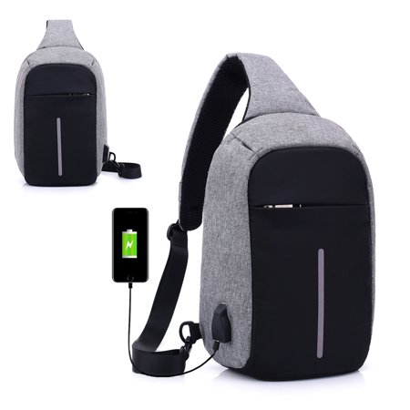 TSV Switch Travel Bag, for Nintendo Switch Console, Dock, Joy-Con Grip & Switch Accessories, with USB Charging Interface Protective Storage Sling Backpack Shoulder Bag for Nintendo Switch and iPad (Sling Ipad Tablet Backpack)