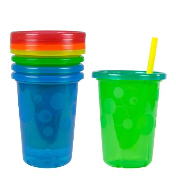 Discount Cups (The First Years Take & Toss Spill-Proof Straw Cups - 10Oz, 4)