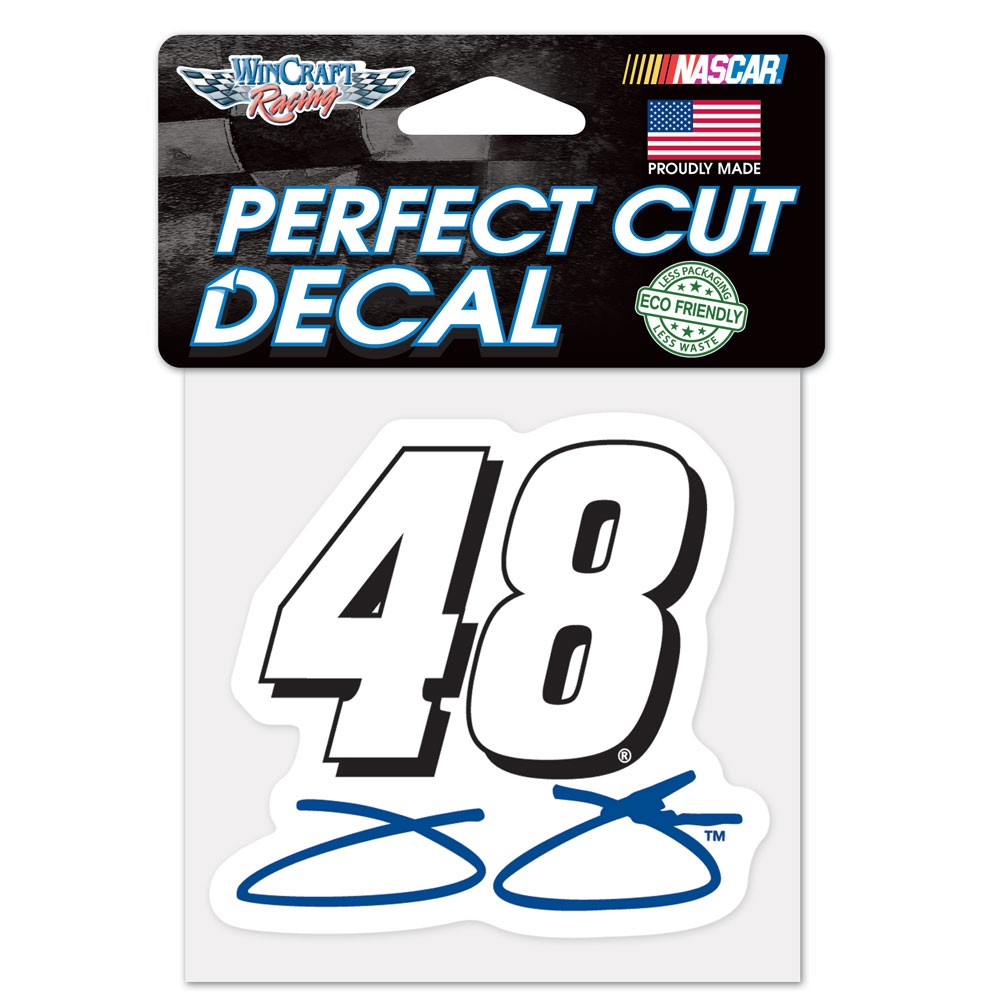 Jimmie Johnson Decal 4x4 Perfect Cut Color