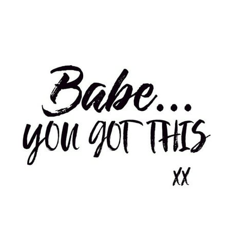 Buy Art For Less Gallery \'Babe You Got This\' Framed Textual Art on ...