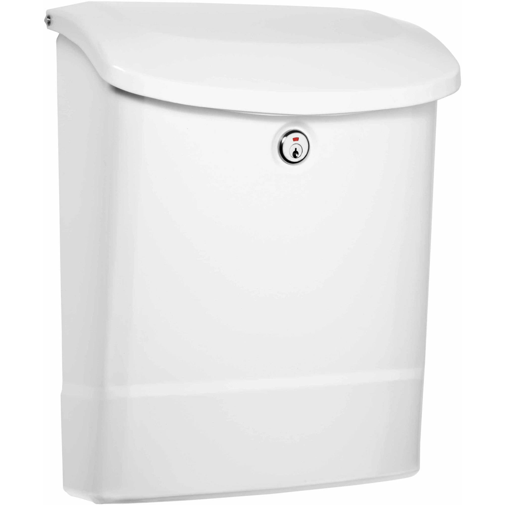 Architectural Mailboxes Parkside Locking Wall Mount Mailbox, White by Architectural Mailboxes
