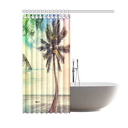 GCKG Serenity Beach Shower Curtain 60x72 Inches Polyester Fabric Bathroom Sets Home Decor - image 1 of 3