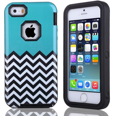 detailed look 35f7c 13960 iPhone SE Case, iPhone 5 5s Case, ULAK 3 in 1 Design Fashion Hybrid Hard  Protective Skins inner Hard PC Soft TPU Combo Shell Cover for Apple iPhone  5S ...