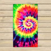 GCKG Colorful Tie Dye Towels,Colorful Tie Dye Beach Bath Towels Bathroom Body Shower Towel Bath Wrap For Home,Outdoor and Travel Use Size 30x56 inches