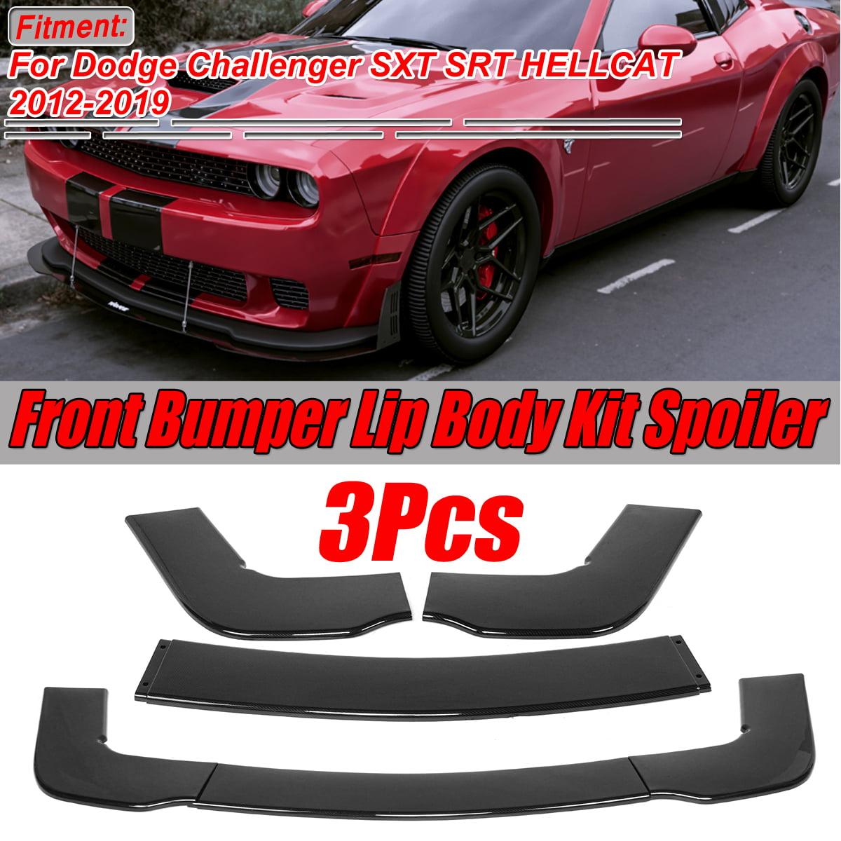 Front Bumper Lip Body Kit Spoiler For Dodge Challenger Sxt Srt Hellcat 2012 2019 With Accessories Screws Attachment Walmart Com Walmart Com