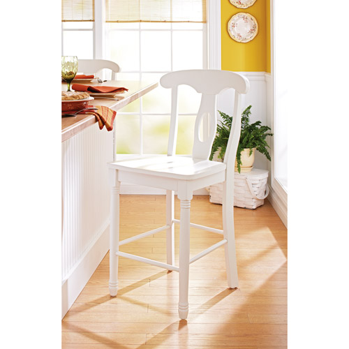 "Better Homes and Gardens European Counter Stool 24"", White Finish"