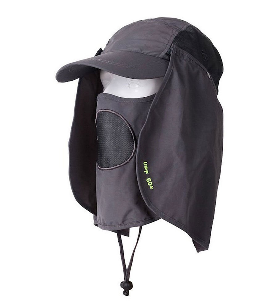 1fd7f26a6f5 UV 50+Protection Outdoor Multifunctional Flap Cap with Removable Sun ...
