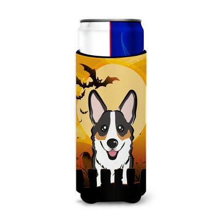 Halloween Tricolor Corgi Ultra Beverage Insulators for slim cans BB1813MUK