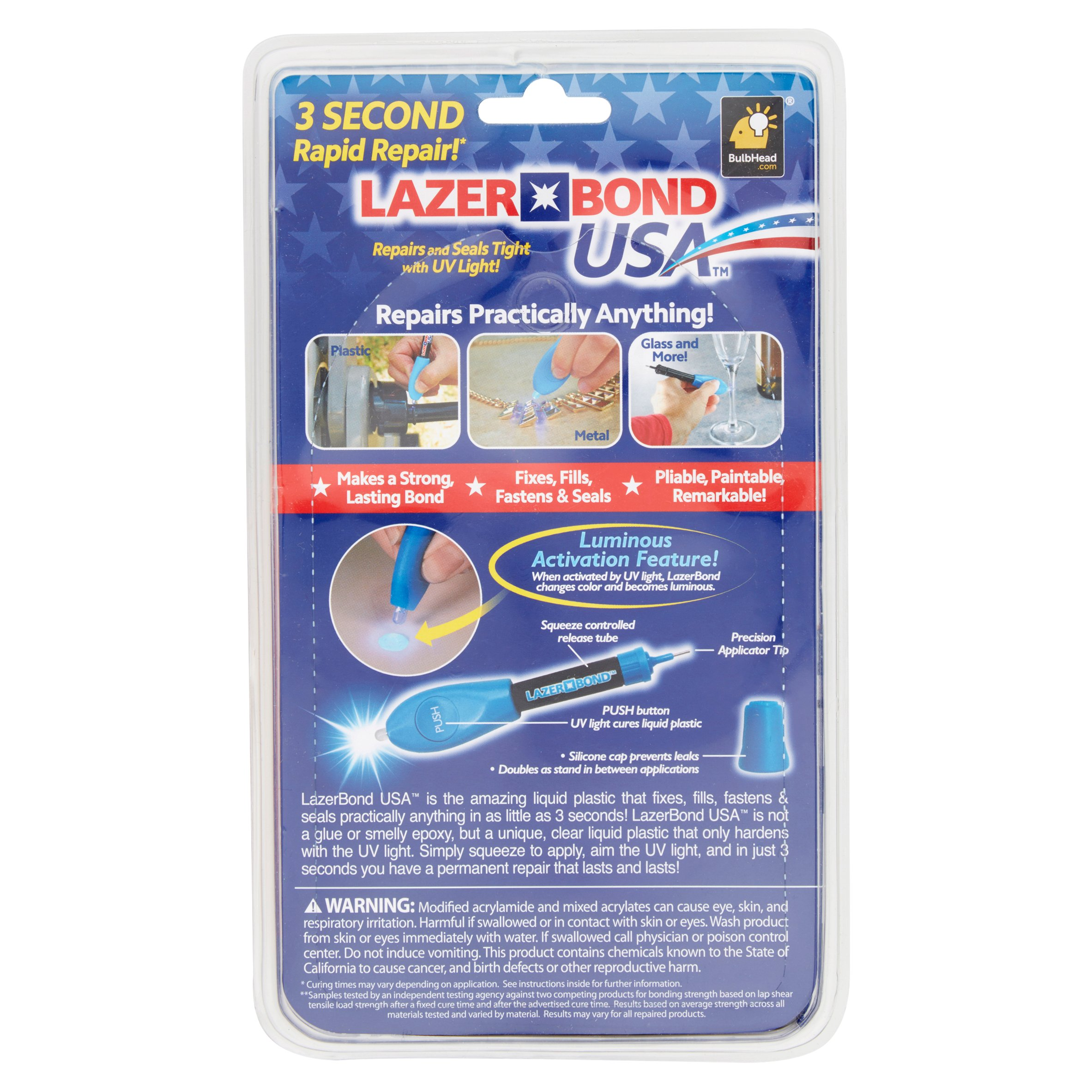 Lazer Bond Repair Glue - Walmart com
