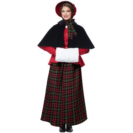 Holiday Caroler Woman Adult Costume