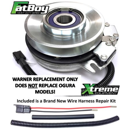 Bundle - 2 items: PTO Electric Blade Clutch, Wire Harness Repair Kit   Replaces Scag 481530 PTO Clutch - High Torque Fatboy W/ Wire Harness Repair  Kit
