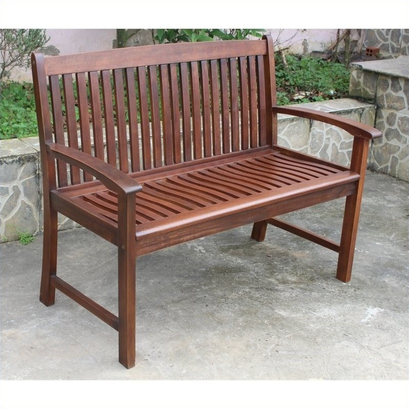 International Caravan Palmdale 2-Seater Outdoor Park Bench