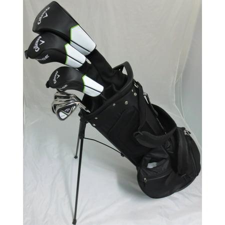 Mens Callaway Complete Golf Set - Driver, Wood, Hybrid, Irons, Putter, Stand Bag Right Handed Regular Flex
