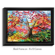 DiaNoche Designs 'Story of the Tree 59' by Aja Ann Painting on Wrapped Framed Canvas